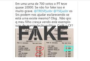 Extrato falso compartilhado na redes Foto: Reprodução/Twitter