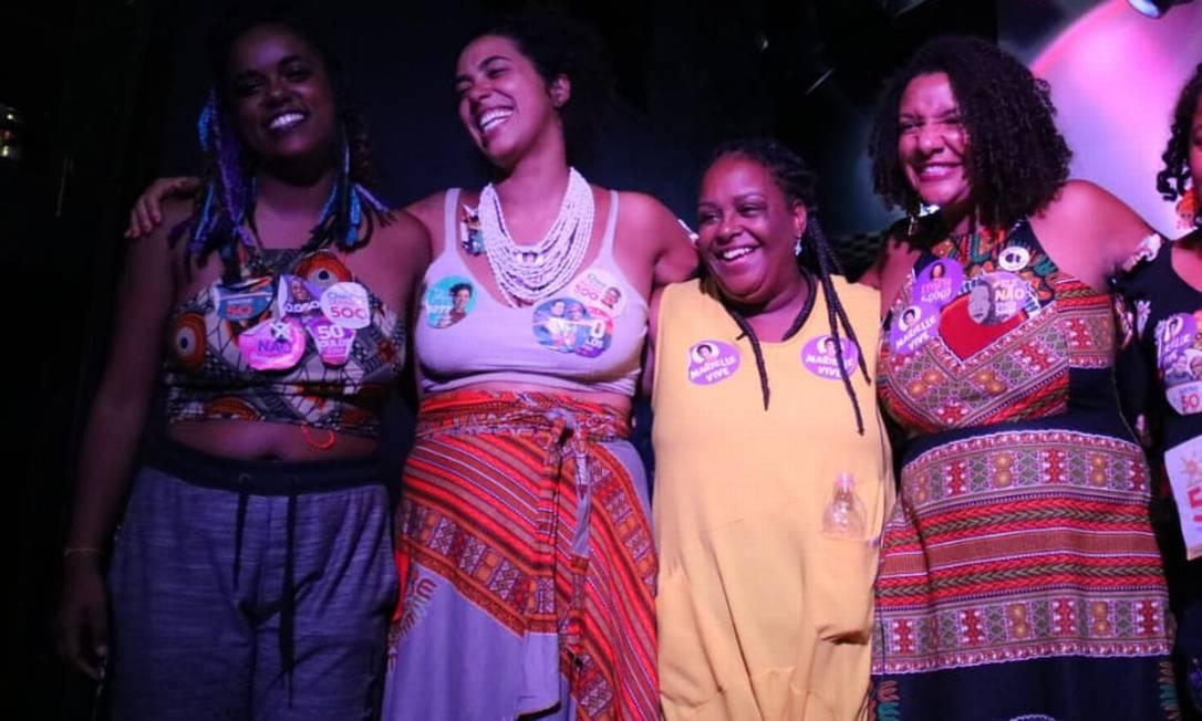 Da esquerda para a direita, Dani Monteiro, Talíria, Mônica e Renata Foto: Divulgação/Clarice Lissovsky