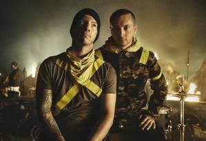 Josh Dun e Tyler Joseph, integrantes do Twenty One Pilots Foto: Divulgação