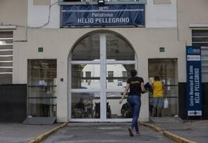 A Policlínica Hélio Pellegrino, na Praça da Bandeira Foto: Alexandre Cassiano/3-10-2018