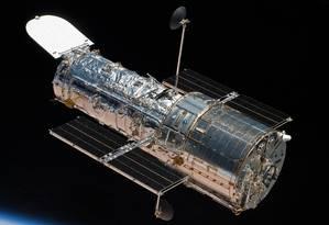 O telescópio espacial Hubble foi lançado em 1990 e fez importantes descobertas científicas Foto: NASA