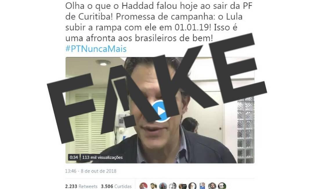 Vídeo original foi gravado no dia 6 de agosto, quando Lula ainda era o candidato Foto: Reprodução