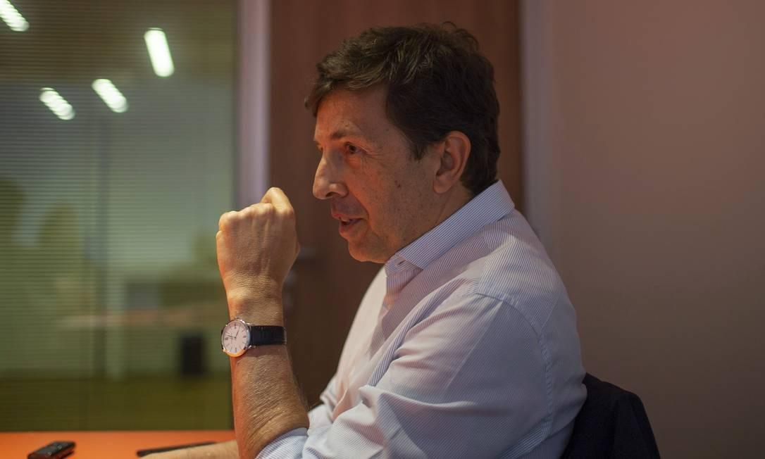 Candidato à presidência pelo Novo, João Amoedo teve 2,7 milhões de votos Foto: Alexandre Cassiano / Agência O Globo (06/08/2018)