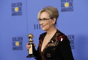 Meryl Streep durante o Globo de Ouro de 2017: atriz participará de filme sobre 'Panama Papers' Foto: MARIO ANZUONI / Reuters