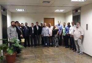 Representantes das escolas de samba do grupo especial se reunem com prefeitura Foto: Madson Gama / Agência O Globo
