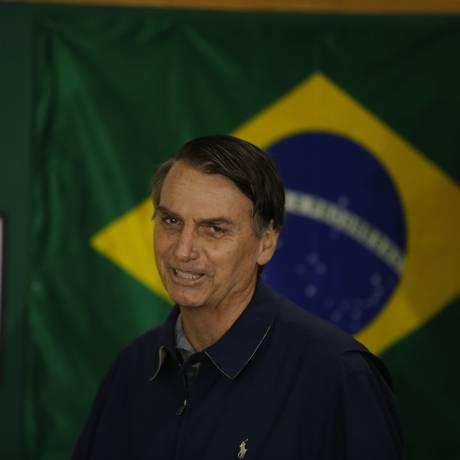 Jair Bolsonaro, candidato do PSL à Presidência Foto: Pablo Jacob / Agência O Globo