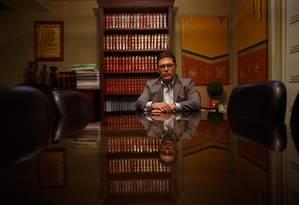 O juiz Eduardo Luiz Rocha Cubas, durante entrevista Foto: Daniel Marenco/Agência O Globo/02-10-2018