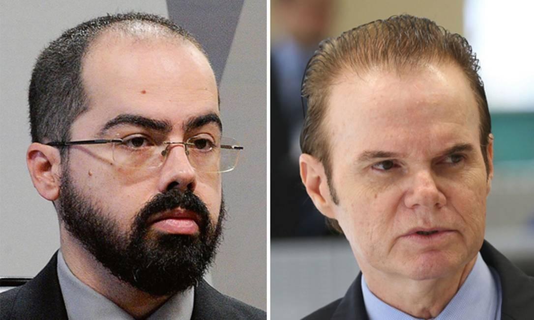 Diego Aranha (à esq.) e Foto: Edilson Rodrigues e Marcelo Camargo / Agência Senado e Agência Brasil