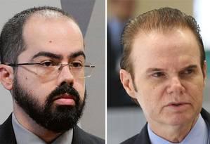 Diego Aranha (à esq.) e Giuseppe Janino Foto: Edilson Rodrigues e Marcelo Camargo / Agência Senado e Agência Brasil