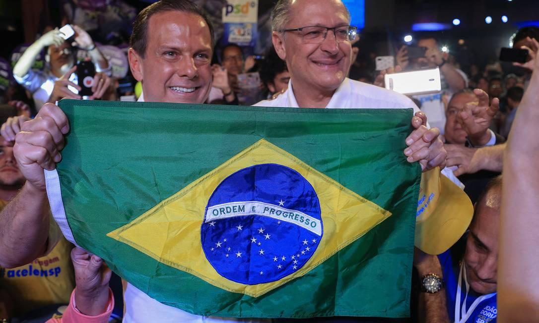 28/07/2018 Convenção estadual do PSDB com João Doria e Geraldo Alckmin Foto: Edilson Dantas / Agência O Globo
