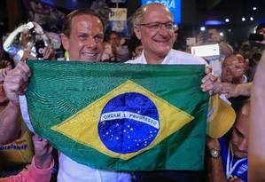 Convenção estadual do PSDB com João Doria e Geraldo Alckmin em julho deste ano Foto: Edilson Dantas / Agência O Globo