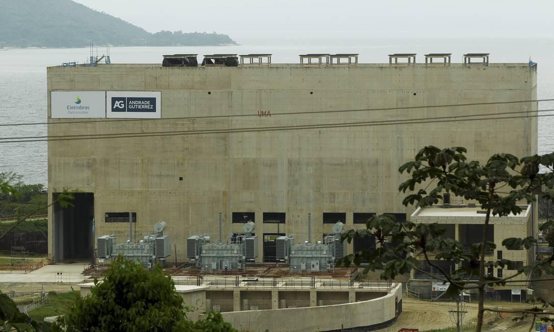 Usina nuclear Angra 3, em Angra dos Reis Foto: Gabriel de Paiva/ Agência O Globo/12-11-2015