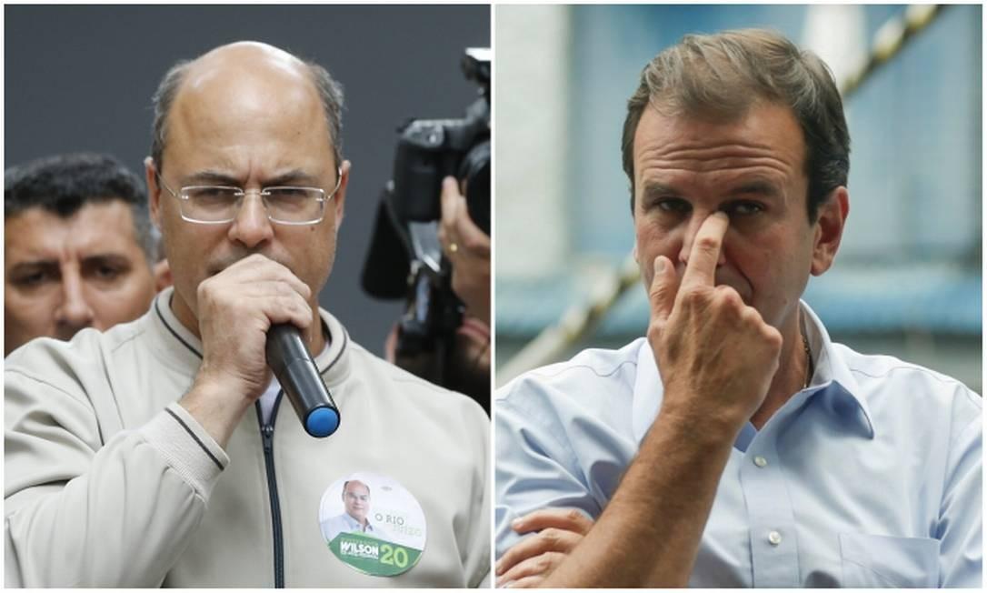 Candidatos disputam 2º turno para o governo do Rio Foto: O GLOBO