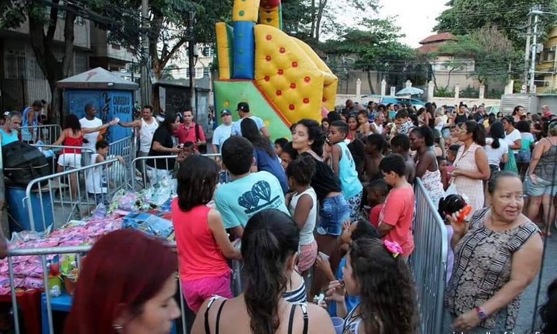 Festa de Dia das Crianças em São Cristóvão costuma reunir centenas de pessoas Foto: Divulgação