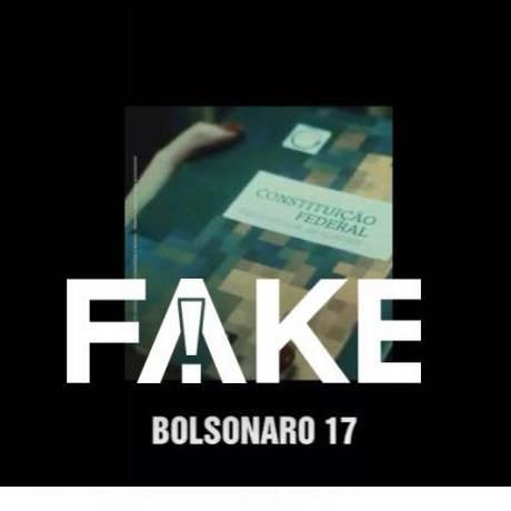 Montagem traz número de Bolsonaro em campanha de Marina Foto: Reprodução