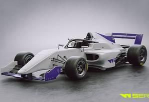 Modelo de carro da W Series Foto: Divulgação