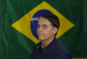 Jair Bolsonaro vota na Vila Militar Foto: Pablo Jacob / Agência O Globo