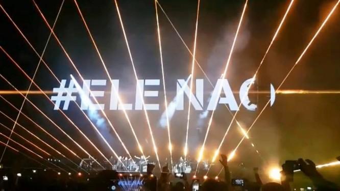 Telão do show de Roger Waters, em São Paulo Foto: Reprodução