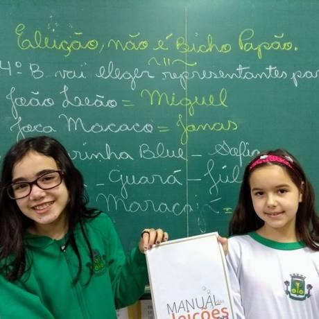 Alunos da Escola Municipal Professor Laerte José dos Santos, em Osasco Foto: Divulgação