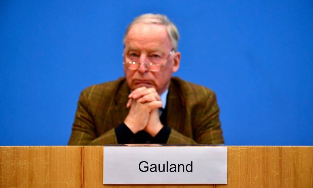 Alexander Gauland, líder do partido de extrema-direita alemão AfD Foto: TOBIAS SCHWARZ / AFP