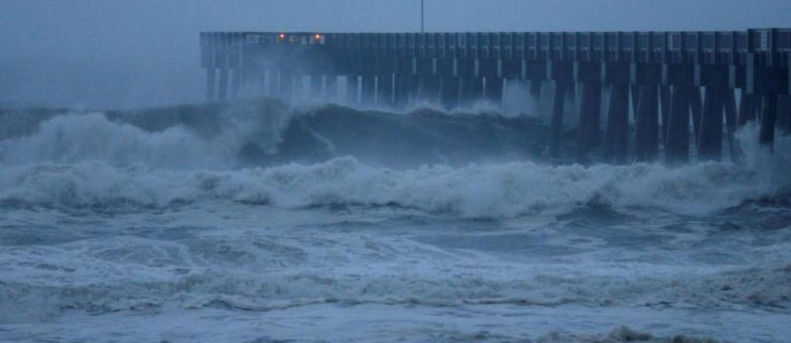 O furacão Michael chega a Panama City, no Noroeste da Flórida Foto: Jonathan Bachman / REUTERS