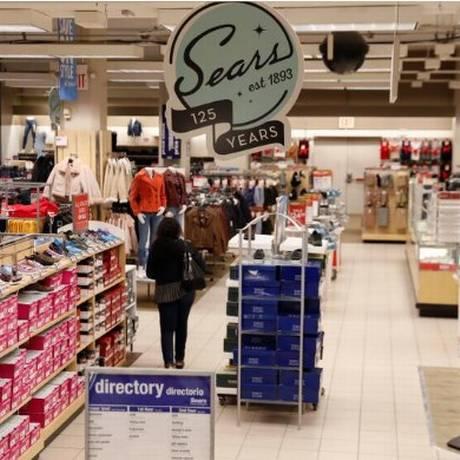 Logo da Sears em loja do Brooklyn, em Nova York Foto: Reuters