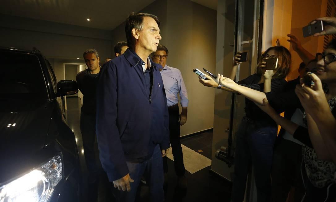 O candidato do PSL à Presidência, Jair Bolsonaro 09/10/2018 Foto: Domingos Peixoto/ Agência O Globo