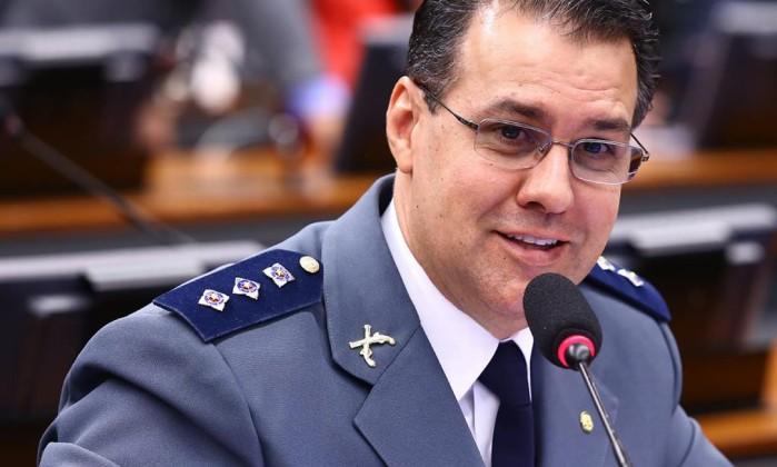 O deputado Capitão Augusto (PR-SP) durante sessão na Câmara Foto: Reprodução / Facebook