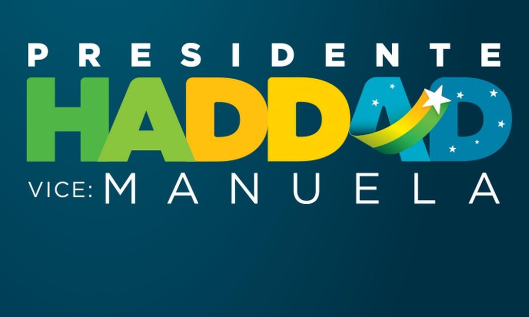 Novo logotipo da candidatura de Fernando Haddad à Presidência Foto: Divulgação