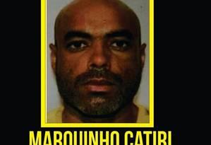 Marquinho Catiri havia sido preso seis dias antes Foto: Divulgação / Disque-Denúncia