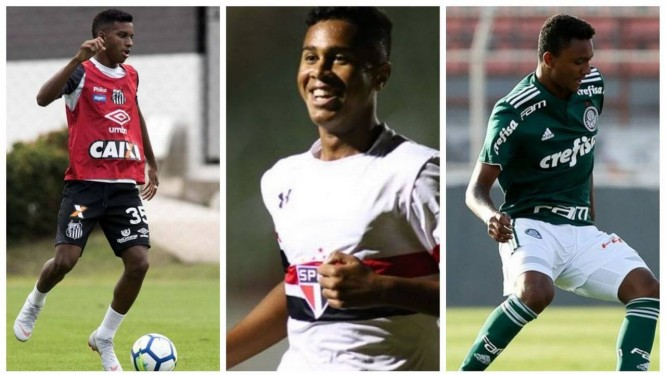 Rodrygo, Ed Carlos e Luan Cândido em alta para jornal inglês Foto: Reprodução