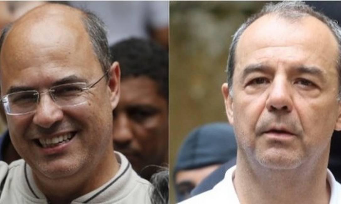 Wilson Witzel e Sérgio Cabral Foto: Pablo Jacob/Theo Marques / Agência O Globo/Framephoto