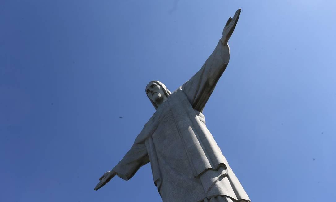 Cristo Redentor: aniversário de 87 anos Foto: Guilherme Pinto / Agência O Globo