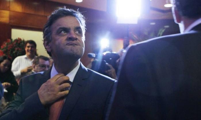 O senador Aécio Neves Foto: Michel Filho