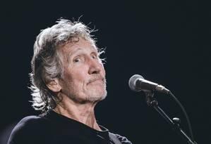 Roger Waters no primeiro show da porção brasileira da turnê 'Us + Them', dia 9 de outubro, na Arena Palmeiras, em São Paulo Foto: CAMILA CARA / Divulgação
