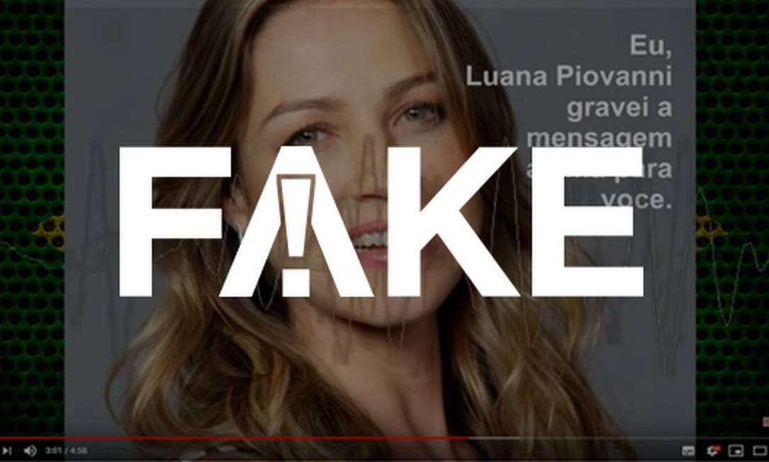 Áudio que circula nas redes sociais atribuído a Luana Piovani é falso Foto: Reprodução/Facebook