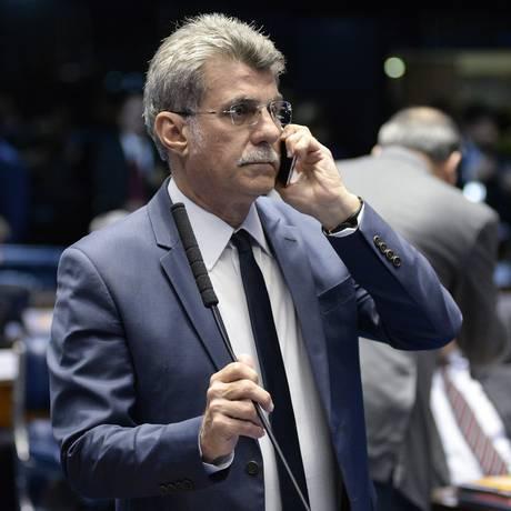 O senador Romero Jucá (MDB-RR), no plenário do Senado Foto: Jefferson Rudy/Agência Senado/10-07-2018