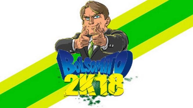 Imagem de divulgação do jogo 'Bolsomito 2K18' Foto: Reprodução