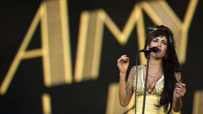 Amy Winehouse, durante show em 2008 Foto: Victor R. Caivano / Divulgação
