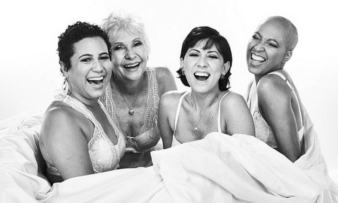 Fernanda Muniz, Leoni Margarida, Linda Rojas e Patrícia Galvão: sororidade Foto: Nana Moraes
