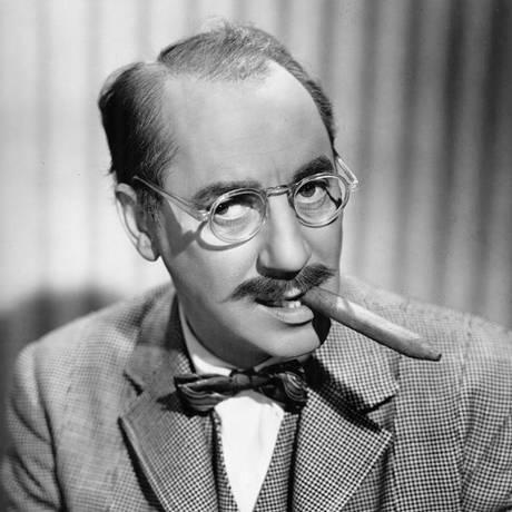Groucho Marx em cena do filme Copacabana, 1947 Foto: Reprodução