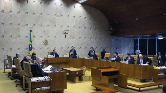 Sessão plenária do STF Foto: Carlos Moura/STF