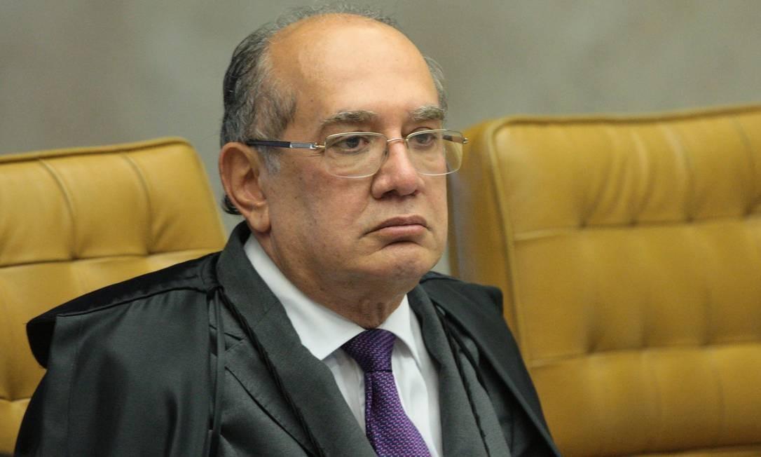 O ministro Gilmar Mendes, durante sessão do STF Foto: Carlos Moura/STF