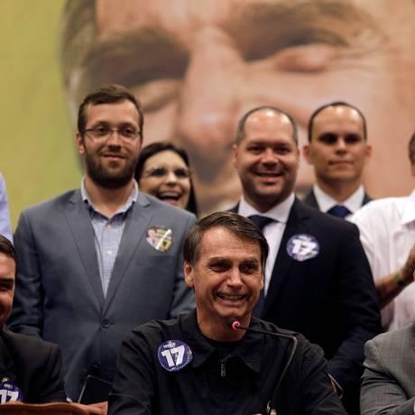 Jair Bolsonaro (PSL) durante entrevista coletiva Foto: RICARDO MORAES / REUTERS