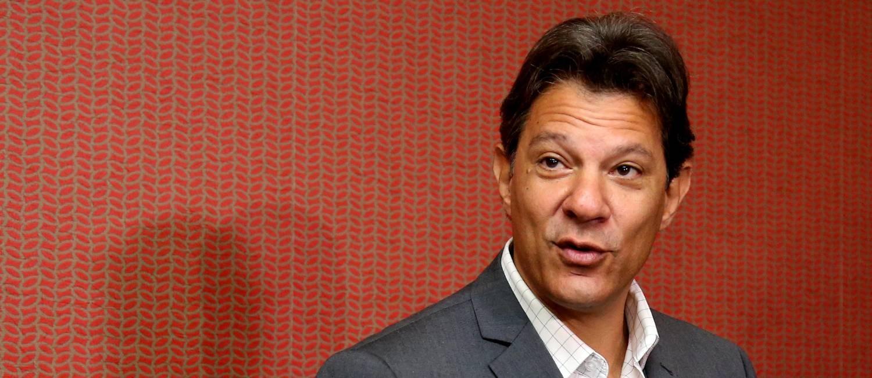 O candidato do PT à Presidência, Fernando Haddad Foto: Givaldo Barbosa / Agência O Globo