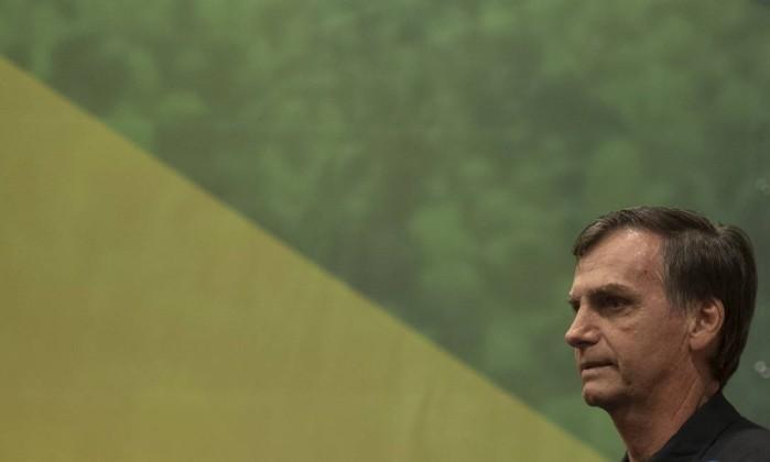 O candidato do PSL à Presidência, Jair Bolsonaro 11/10/2018 Foto: MAURO PIMENTEL / AFP