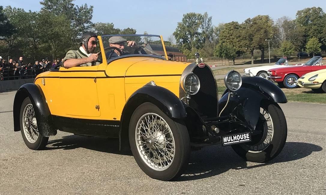 Duas vezes por dia, há uma demonstração de carros antigos do museu em ação Jason Vogel / Jason Vogel