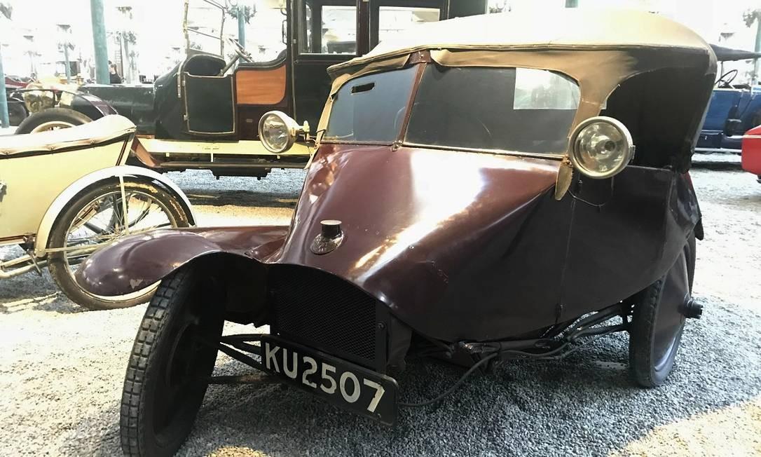 Scott Tricar 1923: com suas três rodas desalinhadas é um dos carros mais estranhos da coleção Jason Vogel