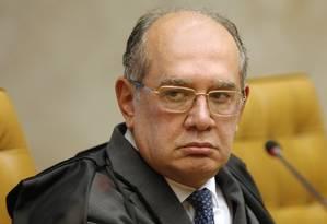 O ministro Gilmar Mendes, durante sessão do STF Foto: Rosinei Coutinho/STF/10-10-2018