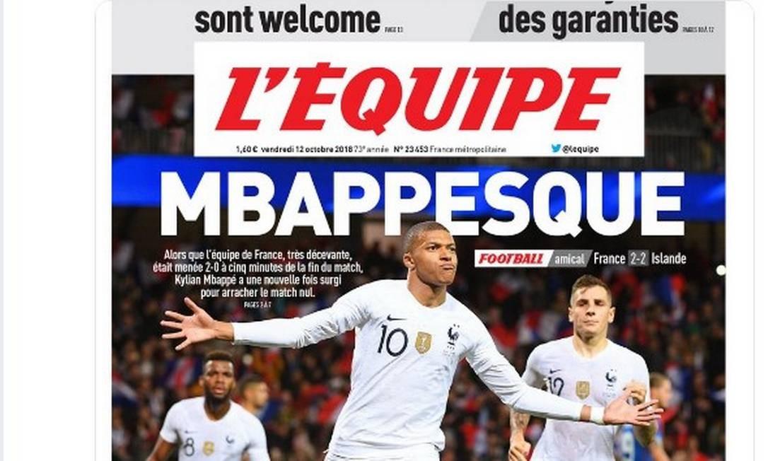 Mbappé ganha manchete na imprensa francesa após evitar derrota